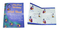 Little Krishna Birthday theme Wish book