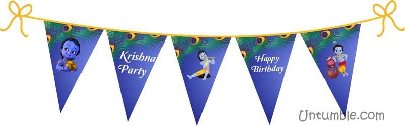 Little Krishna Birthday theme Buntings