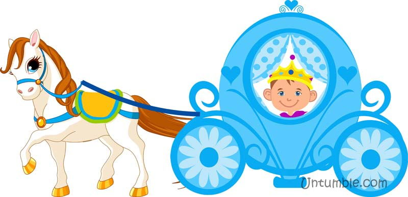 Little prince in a carriage