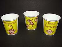 Monkey Birthday theme Cups - Theme based