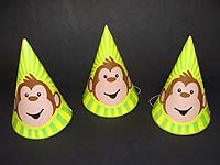 Monkey theme hats (Set of 6)