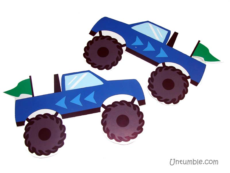 Monster Truck Theme Posters / Cutouts