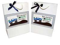 Monster Truck Theme Stickered gift bags