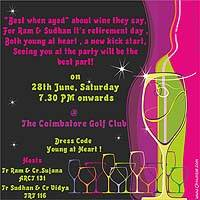 Neon/Young at heart invite