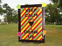 Keep calm and drink up cut out