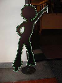 Dancing girl cut out