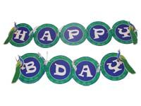 Peacock Birthday theme Happy Birthday Banners
