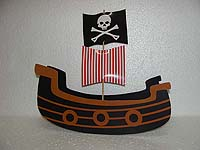 Pirate birthday theme Center pieces