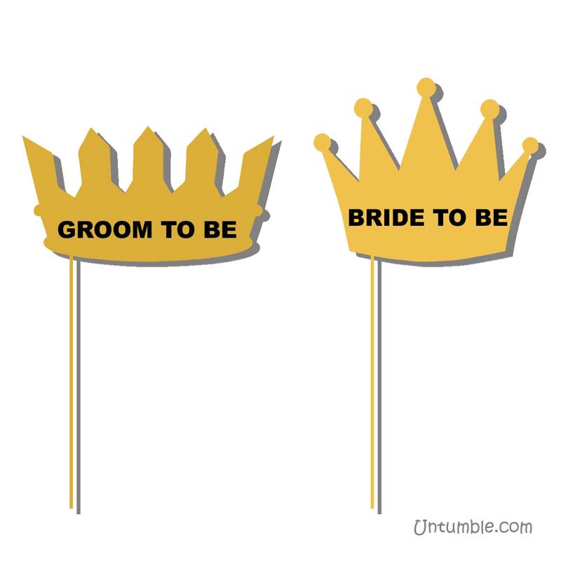 Groom to be & Bride to be photo props
