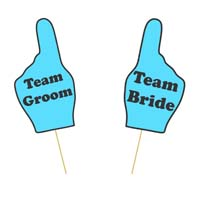 Team Bride and Groom Prop Set
