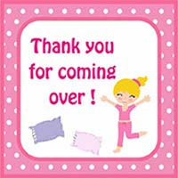 Pyjama party theme Thank you cards