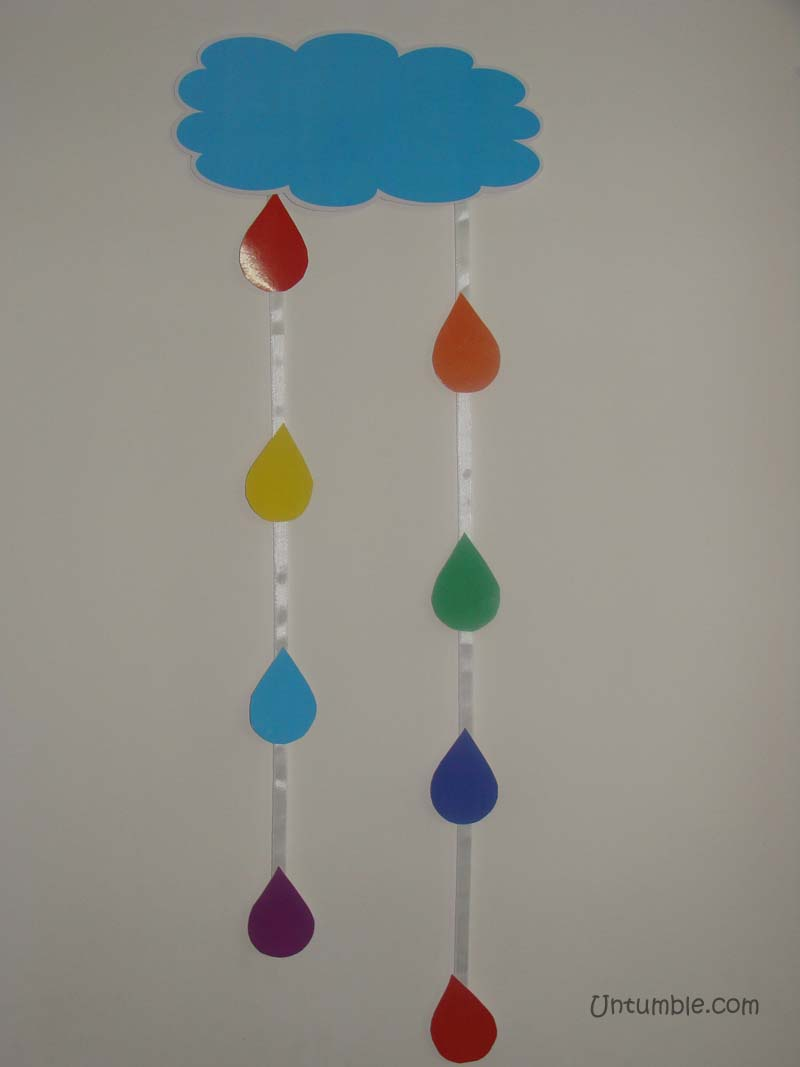 Cloud with droplets dangler (Pack of 1)