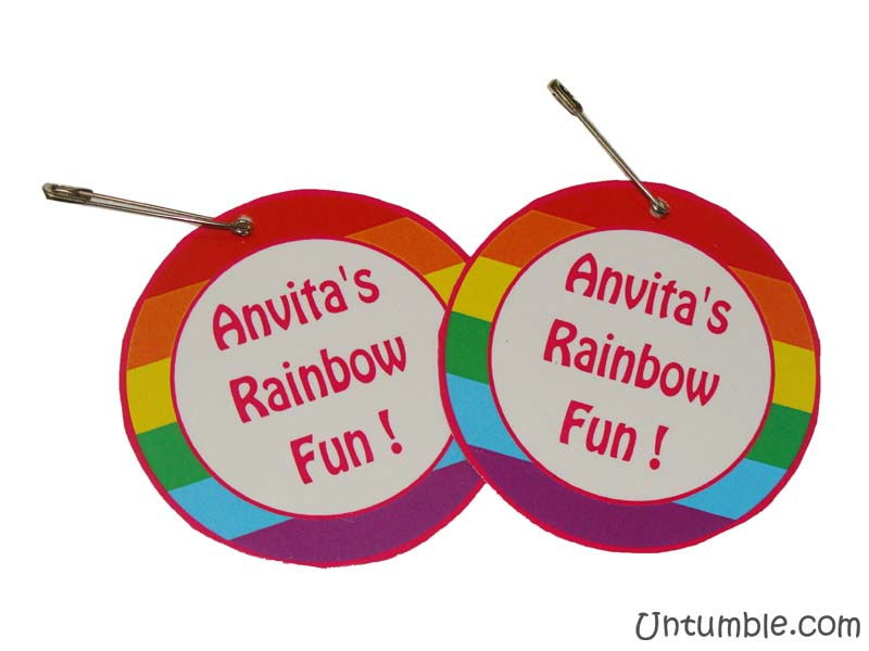 Rainbow Birthday theme Badge