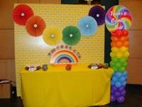 Rainbow Birthday theme Candy Counter