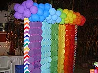Rainbow themed hand made banner