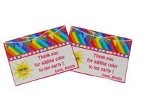 Rainbow Birthday theme Thank you cards