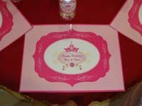 Royal Princess Birthday theme Placemats