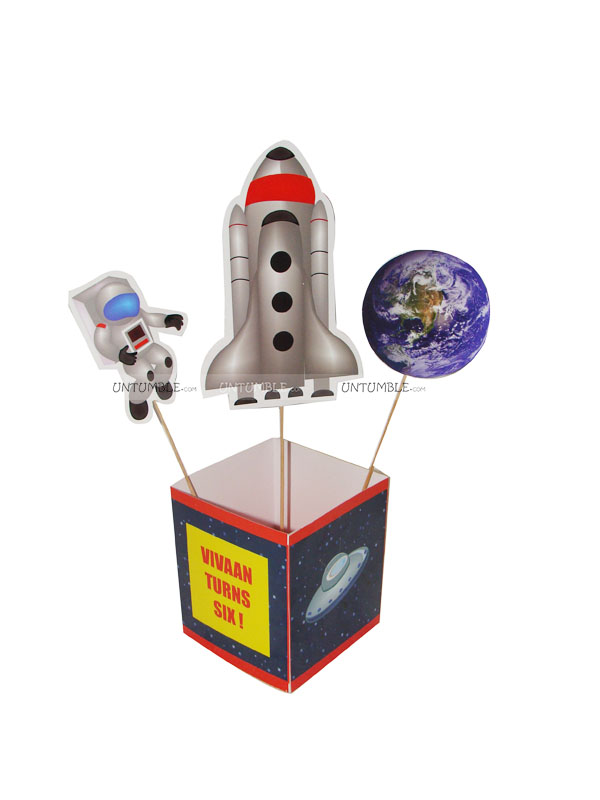 Space Birthday theme Center pieces