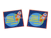Space Birthday theme Thank you cards