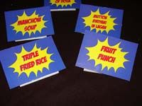 Superhero Theme Birthday Food labels