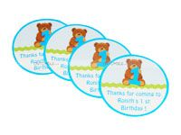Teddy Theme Birthday Thank you cards