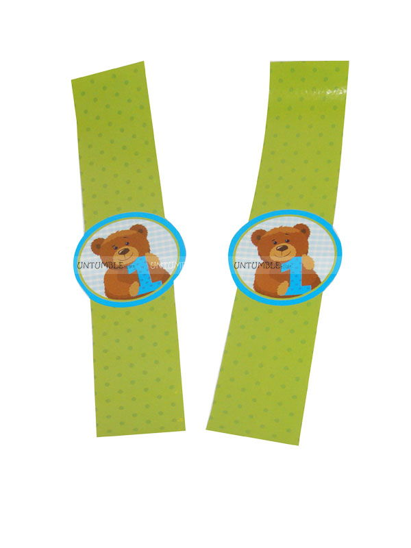 Teddy Theme Birthday Wristbands