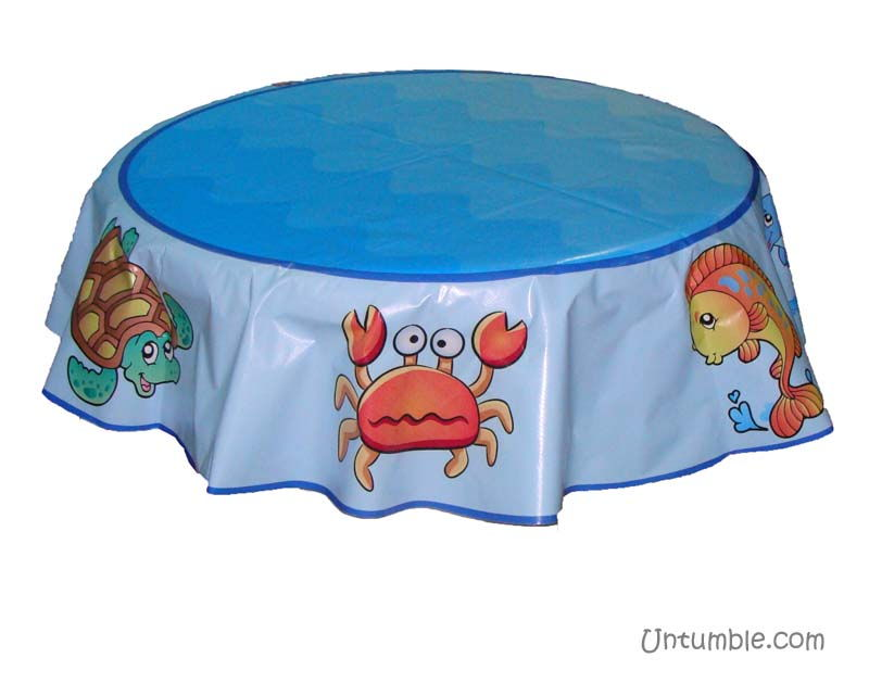 Round cake table cover