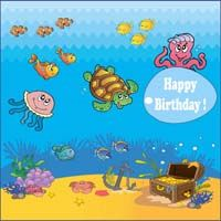 Underwater birthday banner