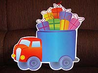 Truck with goodies poster