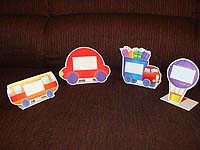 Vehicles birthday theme Food labels
