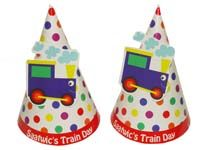 Vehicles birthday theme Hats