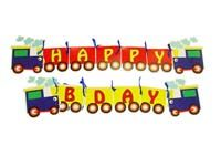 Train theme Happy Birthday Banners