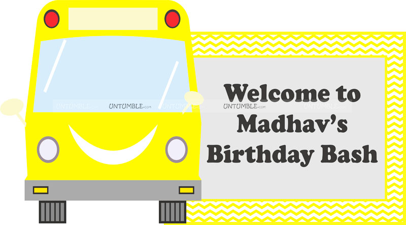 Yellow Bus welcome banner