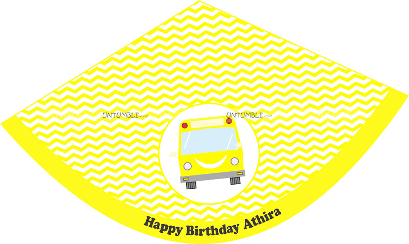 Yellow bus hats (Set of 6)