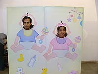 Yellow Baby Shower theme Photo Booth