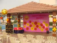 Sunshine Birthday theme Stage Decor