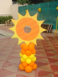Sunshine Birthday theme Photo Booth