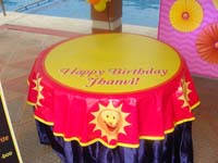 Sunshine Birthday theme Table covers