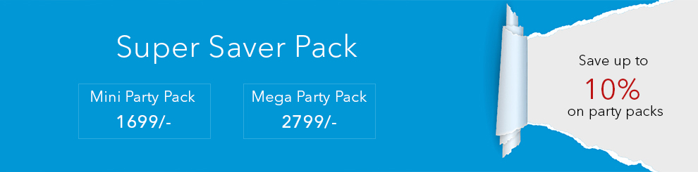 Save more with Discounted House Party Kits for Holi Party Supplies !