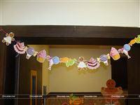 Different candy shaped banners for your house party decoration