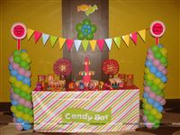 Candyland candy table set up