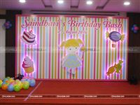 A cute candyland party backdrop for your little cupcake