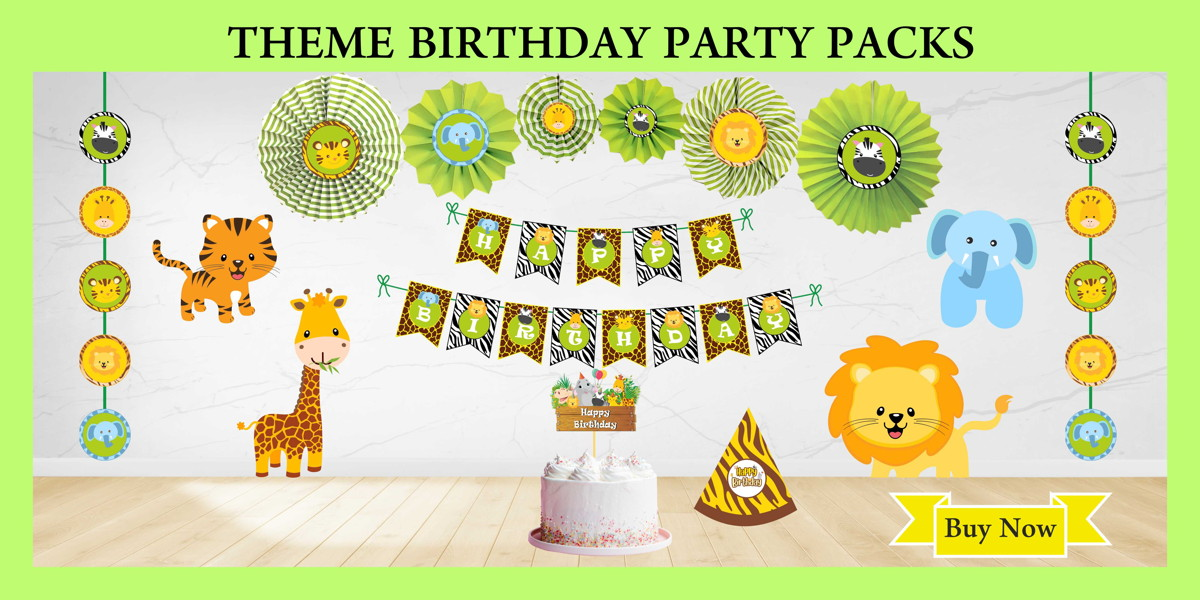 Jungle Theme Party Packs