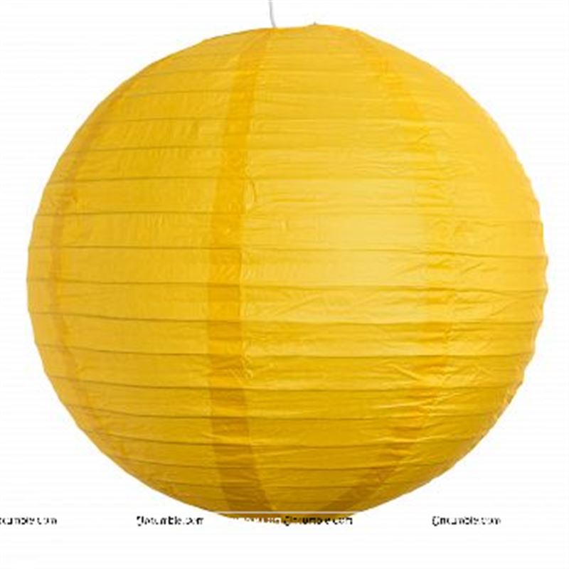 12Inch Yellow Paper Lanterns