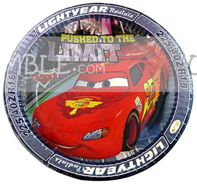 Disney Cars Birthday Party Plates