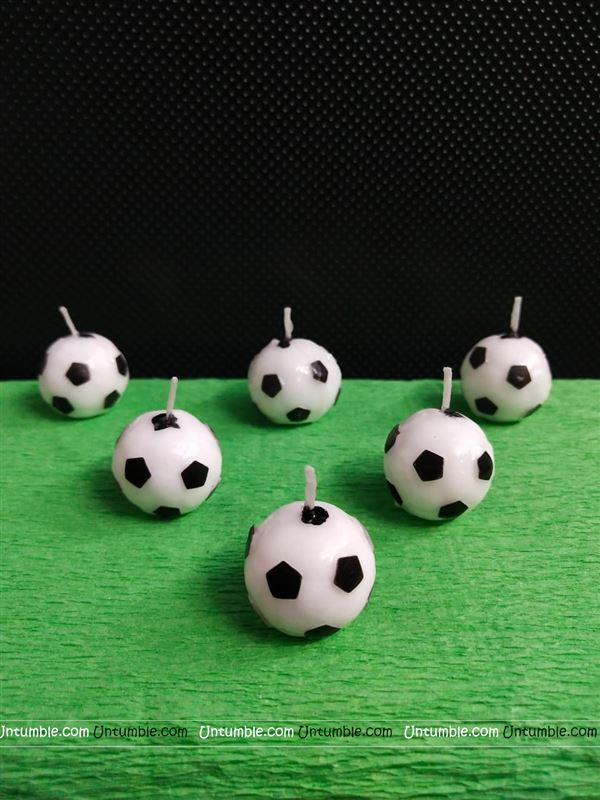 Football shaped Candles (Pack of 6)
