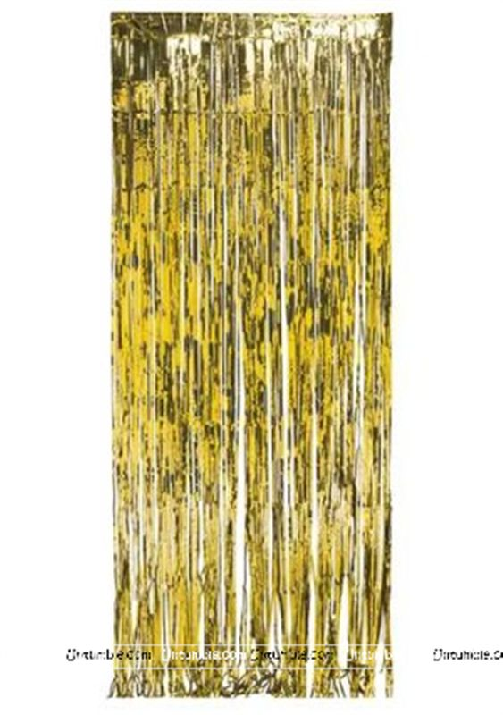 Gold 3x3 foil curtains (set of 2)