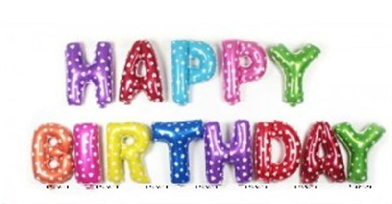 Happy BirthjdayFoil balloons( Multi Colour )