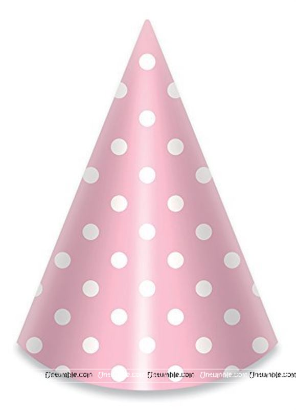 Generic Pink Polka Hats (Set of 10)