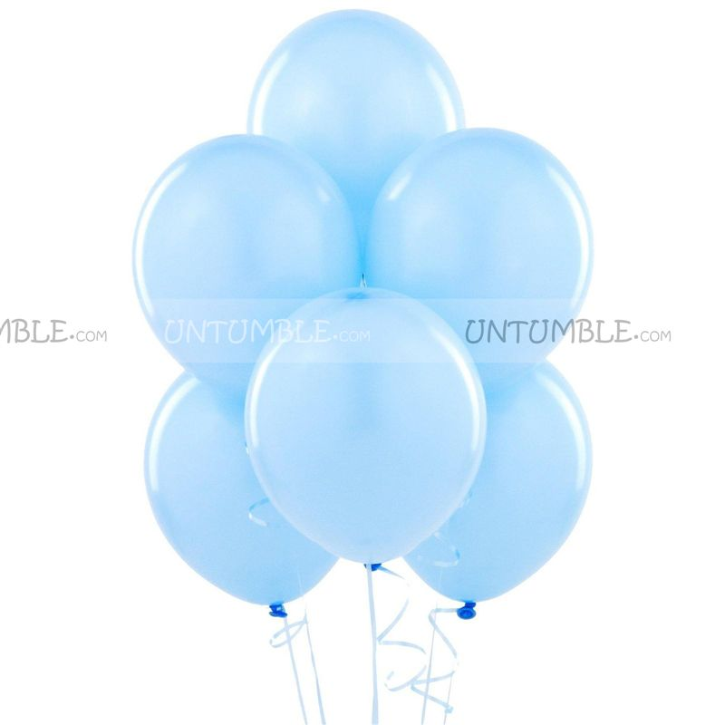 Light Blue Latex Balloons (Pack of 20)